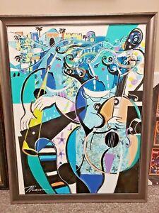 Isaac Maimon Original Acrylic on Canvas