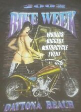 2002 Daytona Bike Week T-Shirt XXL sexy woman thigh high latex boots MOTORCYCE