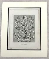 1859 Print Classical Greek Architecture Decorative Panel Original Antique