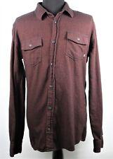 Vans Mens XL Shirt Jacket Maroon Long Sleeve Button Front Soft Fabric