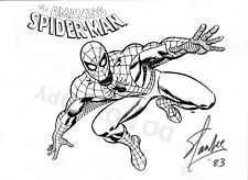 Stan Lee comic book creator reprint signed Spider-Man sketch 8x10 photo RP