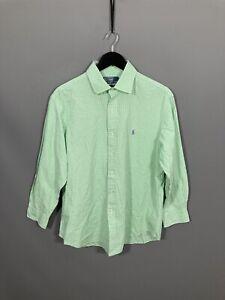 RALPH LAUREN Shirt - Size 17 - Checked - Great Condition - Men's