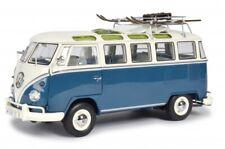 Schuco 450037600 VW Bus T1 Samba Wintersport blau-weiss 1:18 limitiert 1/750