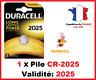 Set di 1 à 10 Pile CR-2025 / DL-2025 DURACELL pulsante Litio 3V DLC 2025