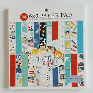 """Carta Bella Double-Sided Paper Pad 6""""X6"""" 24/Pkg Family Night"""