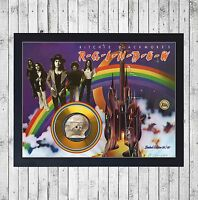 RAINBOW RITCHIE BLACKMORE'S CUADRO GOLD O PLATINUM CD EDICION LIMITADA. FRAMED