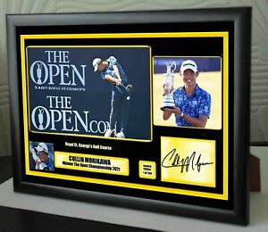 """Collin Morikawa Open Champion 2021 Framed Canvas Photo Print Signed """"Great Gift"""""""