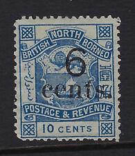 NORTH BORNEO : 11891 6c on 10c blue SG57 unused no gum