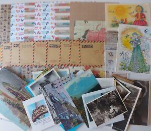 Vintage Travel Theme Scrapbook Bundle Stamps Postcards Photos