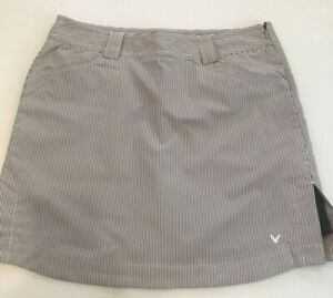 Callaway Golf Skort Skirt Stretch Striped Soft Knit Undershorts Women's10