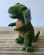 """Kookeys Green Dinosaur Plush Unlock The Fun 9"""" T-Rex Stuffed Animal NEW w/Flaw"""