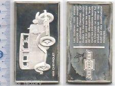 lingot d argent les voitures du Monde ( 1929 Chevrelet - 031 )