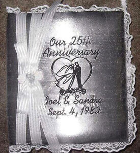 Personalized 50th 25th Anniversary Wedding Photo Album Scrapbook Pictures