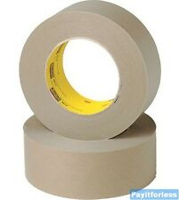 "2"" x 60 Yds 6.5 Mil Tan 3M 2517 Flat Back Flatback Carton Sealing Tape 24 Rolls"