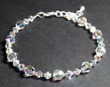 Armband Armkettchen mit Swarovski® Kristallen glitzernd & zart in Schmuck Etui