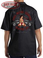 Full Metal Service Motor Dickies Mechanics Work Shirt Chop Shop Garage Rat Rod
