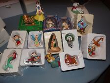 LOT OF15 GROLIER DISNEY CHRISTMAS ORNAMENTS IN  13 ORIGINAL BOXES