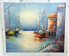 HAND PAINTED OIL ARTIST INTERPRETATION OF FAMOUS SEASCAPE PAINTING