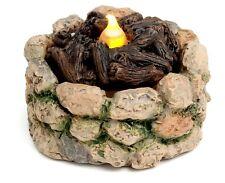 Miniature Light up Fire Pit Firepit Dollhouse Fairy Faerie Gnome Garden MG 43