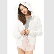 NWT Embroidered Lamb Hooded Jacket Coat Robe Sleepwear Size Small Animal Ears
