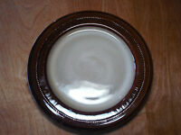 """Tabletops MATRIX Dinner Plate 12"""" Brown Embossed Dots 1 ea    4 available"""