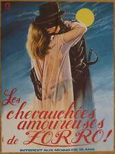LES CHEVAUCHEES AMOUREUSES DE ZORRO 1972 Affiche Originale 60x80 Movie Poster