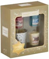 Yankee Candle Holiday Sparkle 3 Votive and 1 Holder Gift Set