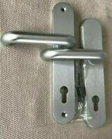 Schutzbeschlag PZ 92/8 mit Hülsen 10mm  silbermatt- Wechselgarnitur DR./DR