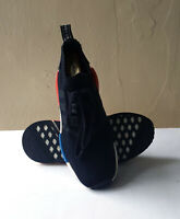 Adidas NMD R1 OG Boost Black Blue Red White Mens Size 10.5 Rare S79168 preowned