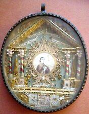 Reliquiario San Pasquale Baylon '800 con altre 12 reliquie
