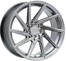 F1R F29 18X8.5 5X112/114.3mm +45 Hyper Black Wheel Fits VW cc eos golf jetta gti