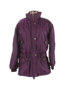 Edelweiss Skiwear Snow Jacket Women's Purple Size Medium BoHo Parka Coat