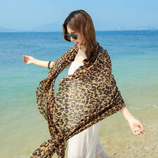 Women's Fashion Long Style Wrap Lady Shawl Leopard Chiffon Scarf Scarves 1PC