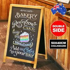 Chalkboard Blackboard Blank Easel Frame Rustic Decoration Party Cafe Double Side