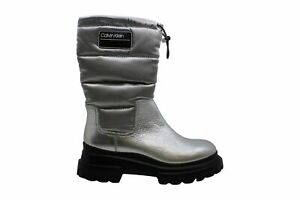 Calvin Klein Women's Shoes Laeton Almond Toe Mid-Calf Cold Weather Boots