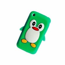 Grün Apple iPhone 3/3g/3gs Pinguin Silikon Case