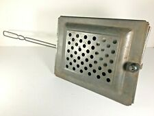 Antique Popcorn Popper Metal Basket Long Handle Fireplace Campfire Vintage
