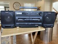 Vintage Sony CFS 720 Radio Cassette Boombox Mega Bass 4 Band Equalizer For Parts