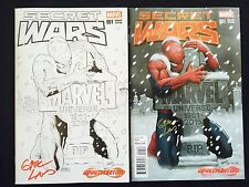 MARVEL SECRET WARS #1 INFINITY & BEYOND EXCLUSIVE VARIANTS SIGNED BY GREG LAND