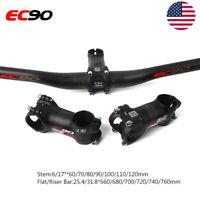 MTB Bike Handlebar 660-760mm Carbon Bar 6/17° 31.8*60-120mm Carbon+AL Stem Matt