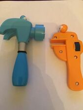 """DISNEY HANDY MANNY PAT HAMMER WITH SOUNDS RUSTY WRENCH REPLACEMENT TOOLS 5.5"""""""