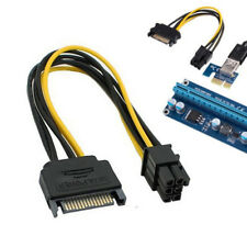 15pin SATA Power to 6pin PCIe PCI-e PCI Express Adapter Cable for Video Card 1PC