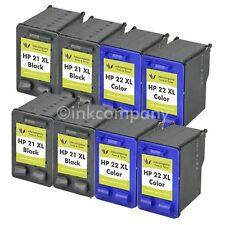 8 Patronen Tinte Drucker HP21 22 XL Fax 3180 Fax 1250 Fax 1250 XL F390 F385 F350