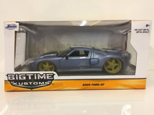 Ford GT 2005 Metallic Blue 1:24 Scale Jada 97368 Bigtime Kustoms