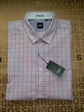 HUGO BOSS Checked Short Sleeve Regular Formal Shirts for Men