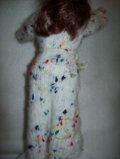 barbie clothes...handmade knitted robe