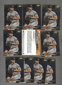 LOT OF 11 GERRIT COLE 2018 ALL STAR CHROME CARDS  Pittsburgh Pirates  NY YANKEES