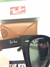 New RAY BAN WAYFARER Sunglasses RB 2140 901 Black Frame G-15 54mm Large