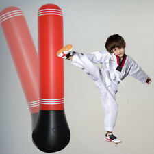 Kids Inflatable Punching Bag Kick Boxing Power Tower Bags Speed Training Fitness