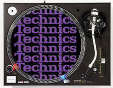 TECHNICS COLLAGE PURPLE - DJ SLIPMATS (1 PAIR) 1200's MK5 MK2 or any turntable